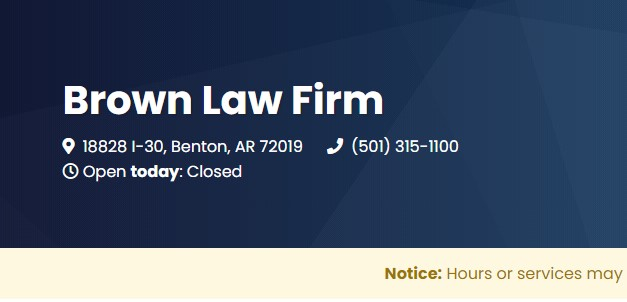 Business logo of Brown Law Firm