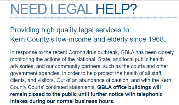 Greater Bakersfield Legal Assistance Inc