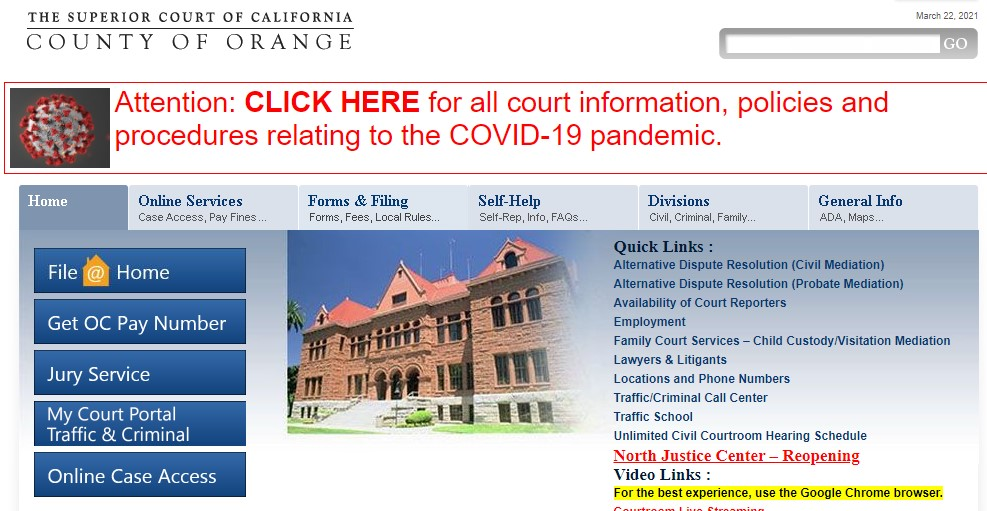 Company logo of Superior Court of California of the County of Orange