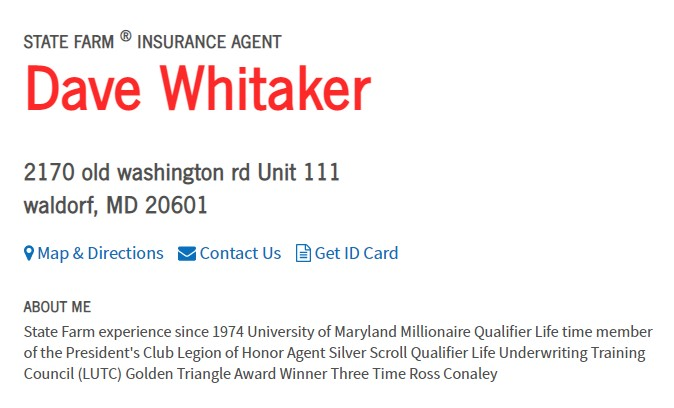 Dave Whitaker - State Farm Insurance Agent