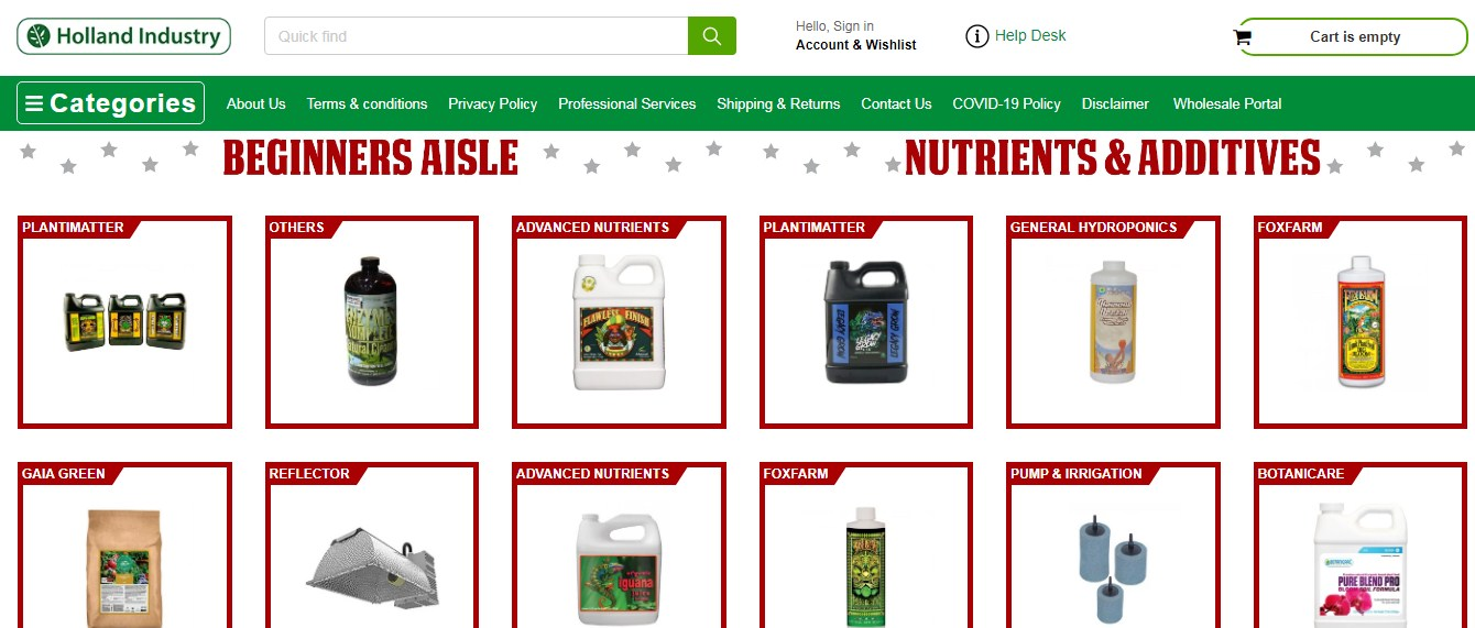 Company logo of Holland Industry - Hydroponics Garden Supplies Mississauga