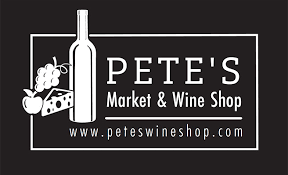 Business logo of Pete's Supermarket and Wine Shop