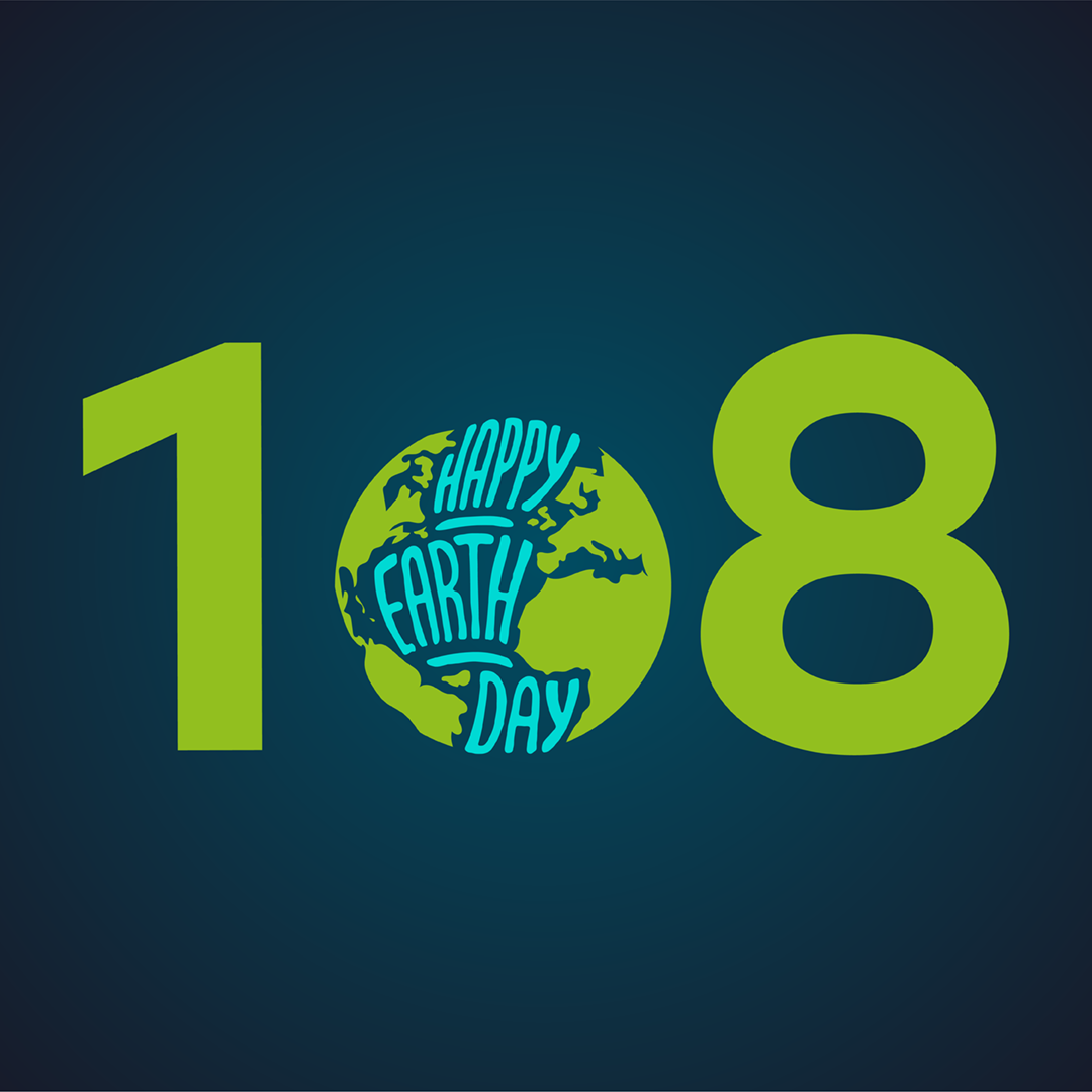 Happy Earth Day! At 1o8, we practice sustainability in big and small ways every day.