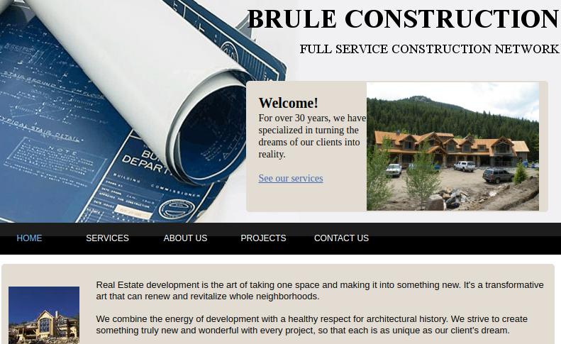 Company logo of Brule Construction Company