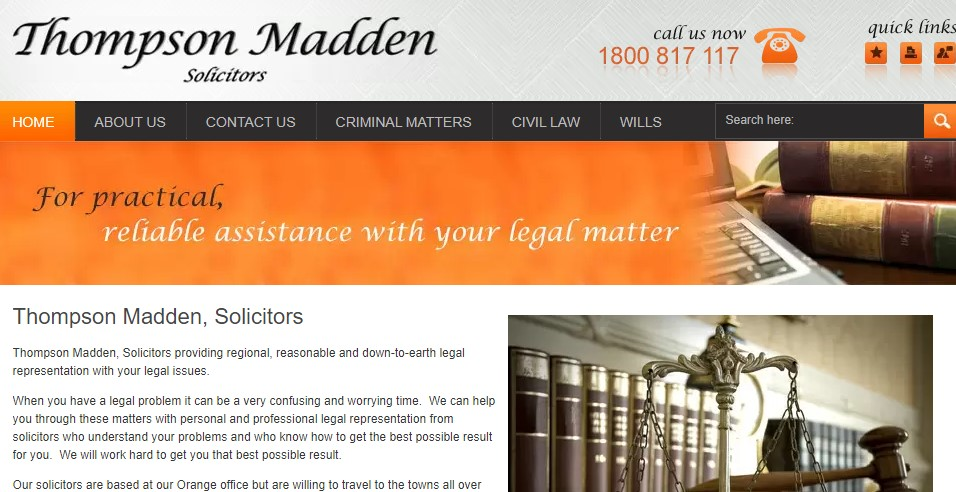 Company logo of Thompson Madden Solicitors